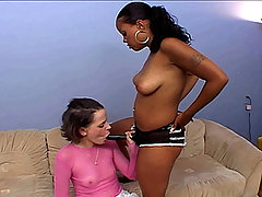 Sweet balck girls caress yummy pussies
